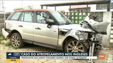 Jovem atropelada nos Ingleses recebe alta hospitalar em Florianópolis - Jovem atropelada nos Ingleses recebe alta hospitalar em Florianópolis
