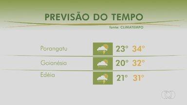 Confira como fica a previsão do tempo em Goiás - Meteorologia alerta para pancadas de chuva em todo o estado.