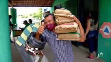 A entrega de sementes no parque de Exposição em Canindé - Saiba mais em g1.com.br/ce