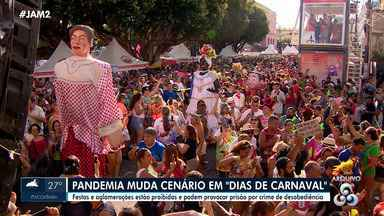 Pandemia muda cenário em 'dias de Carnaval' - Festas e aglomerações estão proibidas e podem provocar prisões