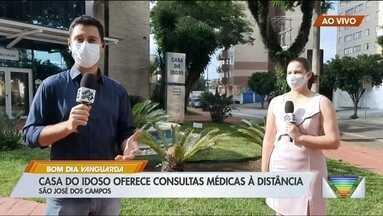 Casa do Idoso em São José oferece consultas médicas à distância - Veja como funciona o serviço.