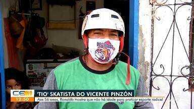 O Minha Comunidade mostra o Tio do Skate no Vicente Pinzón - Saiba mais em g1.com.br/ce