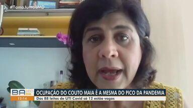 Covid-19: Dos 88 leitos de UTI disponíveis, somente 12 estão vagos no Instituto Couto Maia - Segundo Ceuci Nunes, diretora do Instituto, ocupação é equivalente ao pico da pandemia da doença.
