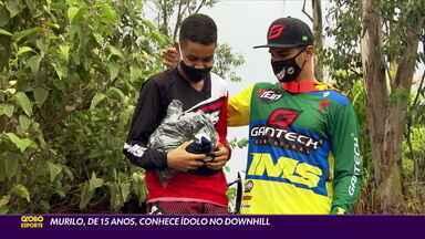 Murilo, de 15 anos, conhece ídolo no Downhill - Murilo, de 15 anos, conhece ídolo no Downhill