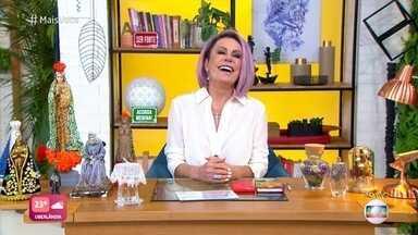 Ana Maria Braga agradece carinho do público na estreia do estúdio em São Paulo - Apresentadora comenta repercussão por ter usado a mesma roupa da estreia do programa em 1999