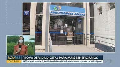 INSS autoriza mais de 5 milhões de beneficiários a fazerem prova de vida digital - Desde março do ano passado a exigência da prova de vida presencial está suspensa por causa da pandemia.