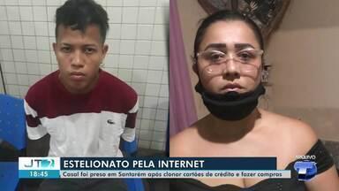 Dupla é presa em Santarém após clonar e fazer compras com cartões de crédito - Estelionatários clonaram numeração de cartões e realizaram quase R$ 200 mil em compras de eletroeletrônicos. Veja na reportagem.