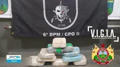 Polícia apreende grande quantidade de droga em Cruzeiro do Sul - Polícia apreende grande quantidade de droga em Cruzeiro do Sul