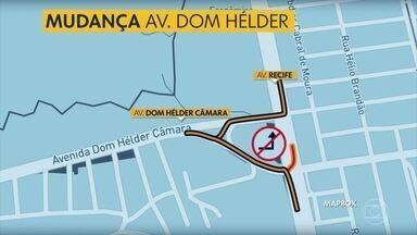 Avenida no Ibura tem mudança na circulação de veículos - Alteração na Avenida Dom Hélder Câmara entra em vigo no sábado (27).