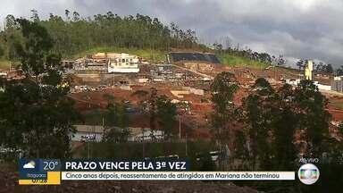 Prazo para reassentamento das famílias de Bento Rodrigues termina amanhã (27) - Distrito foi destruído no rompimento da barragem da Samarco, em 2015.