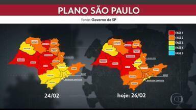 Grande SP regride para fase laranja com o avanço da Covid-19, anuncia governo - O anúnvio foi feito pelo governador João Doria.