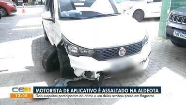 Motorista de aplicativo é assaltado na Aldeota - Saiba mais em g1.com.br/ce