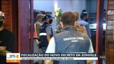 Fiscalização interditou seis estabelecimentos em Joinville por descumprimento a decreto - Fiscalização interditou seis estabelecimentos em Joinville por descumprimento a decreto