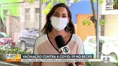 Recife amplia vacinação contra Covid-19 para idosos de 73 e 74 anos - Agendamento começa às 18h desta sexta-feira (5).