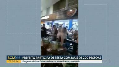 Prefeito de Salto do Lontra participa de festa com mais de 200 pessoas - Ministério Público entrou com uma ação contra o político.