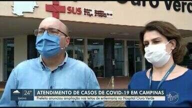 Prefeito Dário Saadi anuncia ampliação de leitos no Hospital Ouro Verde em Campinas - A medida é para ajudar no atendimento de pacientes com Covid-19 na metrópole e aliviar o sistema de saúde que está a beira do colapso.