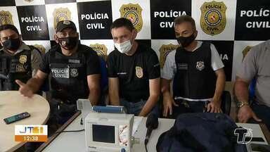 Polícia recupera respirador portátil que havia sido furtado de ambulância, em Santarém - Equipamento foi encontrado em matagal no bairro São José Operário.