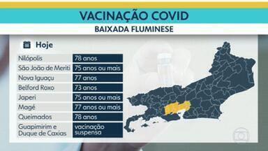 Vacinas estão acabando na Baixada Fluminense - Em Mesquita, a Prefeitura avisou que serão apenas 200 doses para esta terça-feira (9).