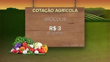 Confira a cotação agrícola para a primeira semana de março - 250 gramas do agrião são vendidos a R$ 0,80. R$ 17 é o custo de 6 kg da alface crespa. Veja outros produtos.