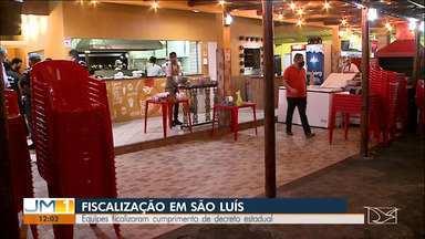 Equipes fiscalizaram cumprimento de decreto estadual em São Luís - As equipes notificaram e autuaram alguns estabelecimentos no bairro do Cohatrac, em São Luís.