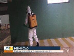 Hospitais e espaços públicos são desinfectados contra vírus em Imperatriz - O trabalho também contempla outros espaços públicos, incluindo outras cidades da região de Imperatriz.