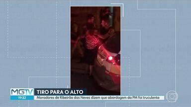 Presos em Ribeirão das Neves durante abordagem da PM são ouvidos e liberados - A confusão teve até tiro para o alto e foi gravada por moradores da cidade.