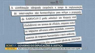 Governo responde ao pedido de renovação do lockdown no Paraná - Ação movida pelo Ministério Público e pelas Defensorias Públicas do Paraná e da União pede renovação do decreto mais rígido.