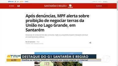Venda de lotes na região do Lago Grande é destaque no G1 Santarém - Confira a informação completa no portal.