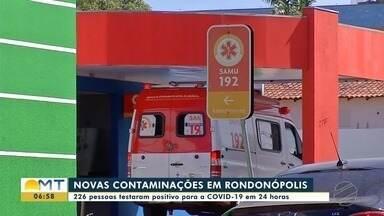 Rondonópolis registra maior número de casos de Covid-19 nesta segunda onda da doença - Rondonópolis registra maior número de casos de Covid-19 nesta segunda onda da doença