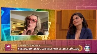 Elizabeth Savalla manda recado para Vanessa Giácomo - Vanessa Giácomo relembra personagens marcantes no '#TBT do Encontro' e fala sobre parcerias com Elizabeth Savalla