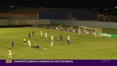 Cianorte vence Paraná Clube e segue na Copa do Brasil - O Paraná Clube foi eliminado pelo Cianorte na primeira fase da Copa do Brasil. Resultado que mostra que o caminho tricolor nesta temporada será muito mais complicado do que se imagina