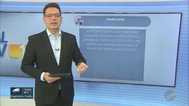 Telespectadores mandam mensagens ao EPTV 1, nesta quinta-feira (11) - Para participar basta enviar sua mensagem com #EPTV1 no Twitter.