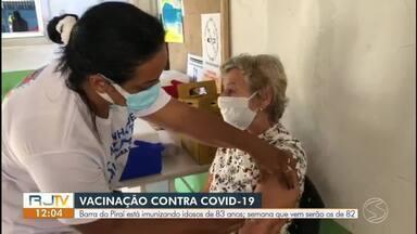 Barra do Piraí vacina idosos de 83 anos nesta quinta-feira - Nova etapa de vacinação deve começar na próxima semana.
