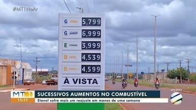 Etanol mais caro nas bombas dos postos de combustíveis em MT - Etanol mais caro nas bombas dos postos de combustíveis em MT.