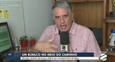 Morador reclama de buraco que foi aberto por concessionária de água em Campo Grande - Empresa diz que, em média, buracos são fechados em até 24 horas depois de serviço