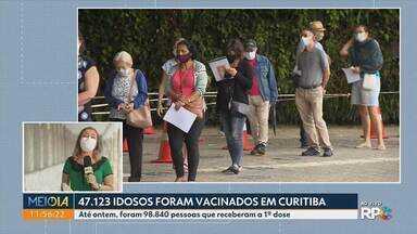 Mais de 47 mil idosos já receberam a 1ª dose da vacina contra a Covid, em Curitiba - No Paraná a população vacinada com a 1ª dose chegou a 450.589 pessoas