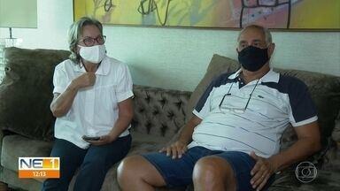 Primeiros confirmados com Covid em PE, casal recorda diagnóstico da doença um ano depois - Os dois tinham visitado Egito e Itália. Na volta, começaram a sentir os sintomas respiratórios.