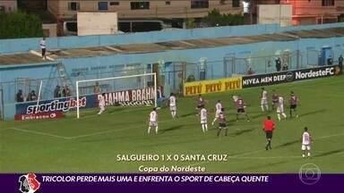 Santa Cruz perde mais uma e enfrenta o Sport de cabeça quente - Santa Cruz perde mais uma e enfrenta o Sport de cabeça quente
