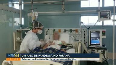 Pandemia completa um ano no Paraná - Primeiro caso confirmado no estado foi de paciente de Curitiba.