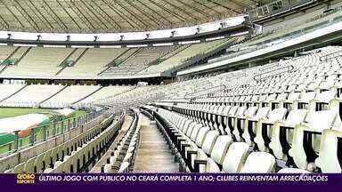 Arena Castelão completa um ano do último jogo com público; clubes reinventam arrecadações - Saiba mais em ge.globo/ce.