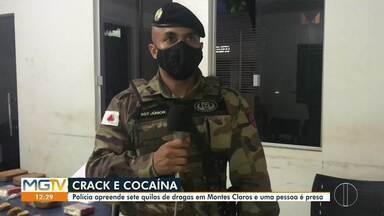 Homem é preso com mais de 6 kg de crack e cocaína, em Montes Claros - Suspeito de 26 anos foi abordado pela Polícia Militar no Bairro Independência após denúncias. Droga foi adquirida em Pirapora.