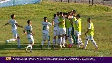 Chapecoense vence o Avaí e assume a liderança do Campeonato Catarinense - Chapecoense vence o Avaí e assume a liderança do Campeonato Catarinense