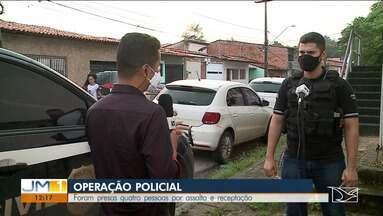 Foram presas quatro pessoas por assalto e receptação em São Luís - Quatro pessoas foram presas na manhã desta sexta-feira (12) suspeitas de integrar um bando que fez vários assaltos a uma rede de lojas de departamentos, em São Luís.