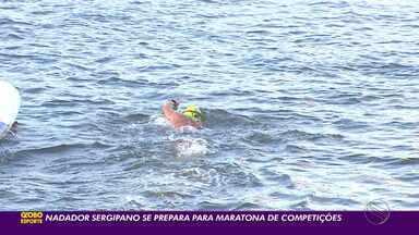 Nadador sergipano se prepara para maratona de competições - Rotina de treinos tem sido intensificada.