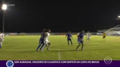 Cruzeiro empata em Roraima com 1º gol de atacante e se classifica - Cruzeiro empata em Roraima com 1º gol de atacante e se classifica