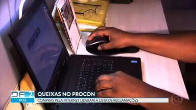 Compras pela Internet lideraram a lista de queixas no Procon-DF - Segundo o levantamento do Procon, o número de reclamações contra as empresas que vendem produtos online aumentou 74% em 2020.
