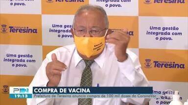 Prefeitura anuncia plano de compra de 100 mil vacinas - Prefeitura anuncia plano de compra de 100 mil vacinas