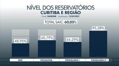 Sanepar diminui o rodízio de água em Curitiba e região - Chuva e economia da população ajudaram na decisão.