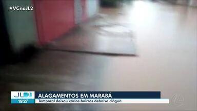 Vários bairros de Marabá ficam com ruas alagadas - Temporal deixou núcleo Nova Marabá debaixo d'água.