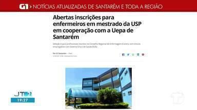 Período de inscrições para Mestrado na UEPA é destaque no G1 Santarém e região - Confira a informação completa no portal.